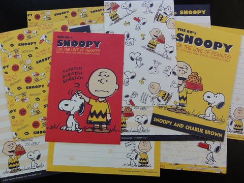z Peanuts Snoopy Letter Sets Stationery Paper - L