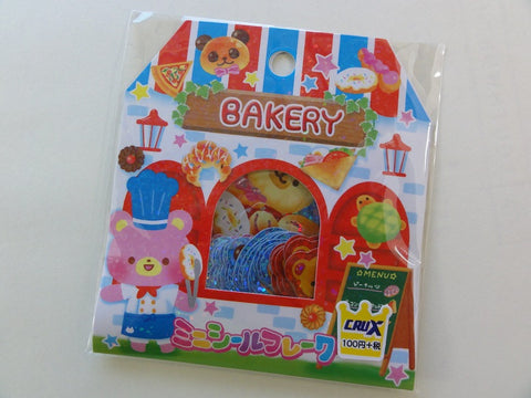 Cute Kawaii Crux Bakery Bear Stickers Flake Sack