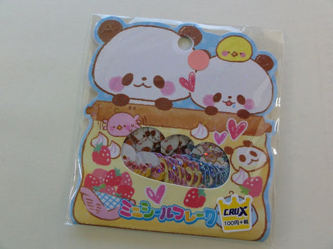 Cute Kawaii Crux Panda Sweets and Chicks Stickers Flake Sack