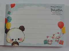Cute Kawaii Crux Moji Panda Balloons Mini Notepad / Memo Pad - Stationery Design Writing Collection