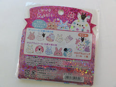 Cute Kawaii Kamio Love Rabbit Bunny Stickers Flake Sack