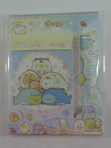 Cute Kawaii San-X Sumikko Gurashi Sea Animals Letter Set Pack - Stationery Writing Paper Envelope