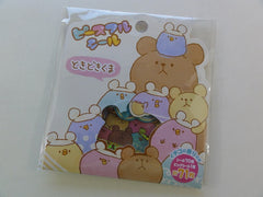 Cute Kawaii Mind Wave Bear and Round Friends Flake Stickers Sack