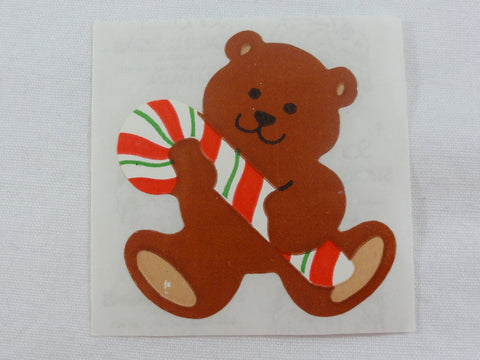 Sandylion Bear Candy Cane Sticker Sheet / Module - Vintage & Collectible