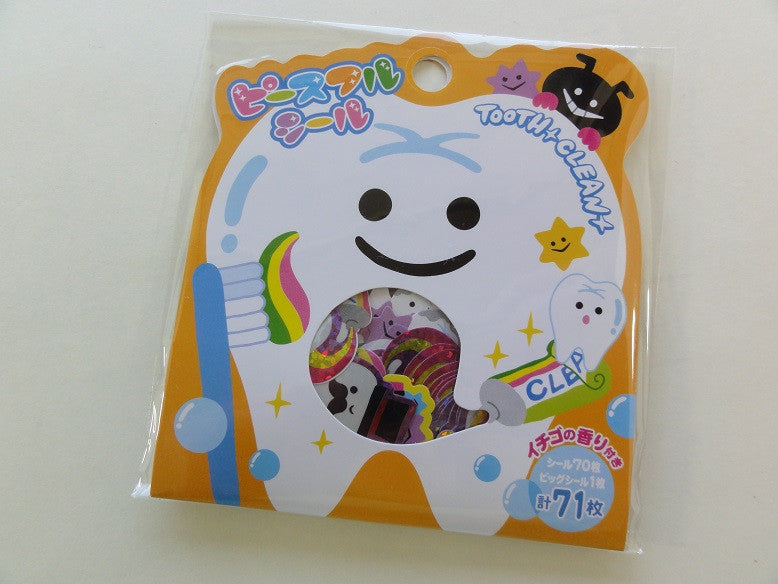 Cute Kawaii Mind Wave Tooth Clean Dentist Flake Stickers Sack