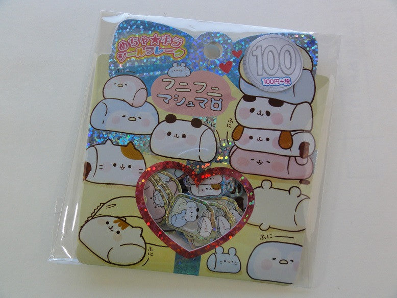 Cute Kawaii Kamio Sweet Marshmallow Flake Stickers Sack