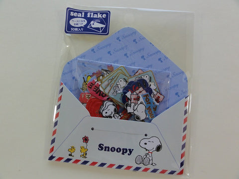 Cute Kawaii Kamio Peanuts Snoopy Stickers Sack - B