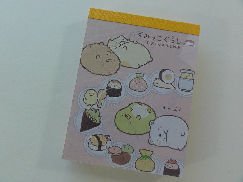 Kawaii Cute San-X Sumikko Gurashi Sushi Party Mini Notepad / Memo Pad - A