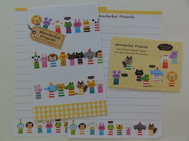 Cute Kawaii Kamio Wonderful Friends Animal Mini Letter Sets