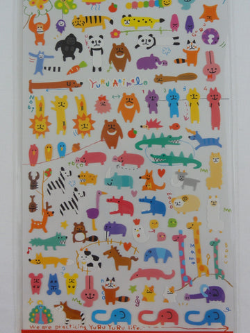 Cute Kawaii Mind Wave Animal Safari Wild Zoo Sticker Sheet - for Journal Planner Craft