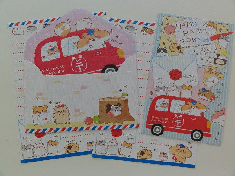 Cute Kawaii Crux Hamu Hamu Town Hamster Mini Letter Sets
