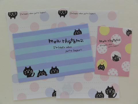 Cute Kawaii Mind Wave Mew Rhythm Cat Kitten Mini Letter Sets