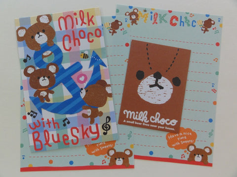 Cute Kawaii Q-Lia Milk Choco Bear Mini Letter Sets