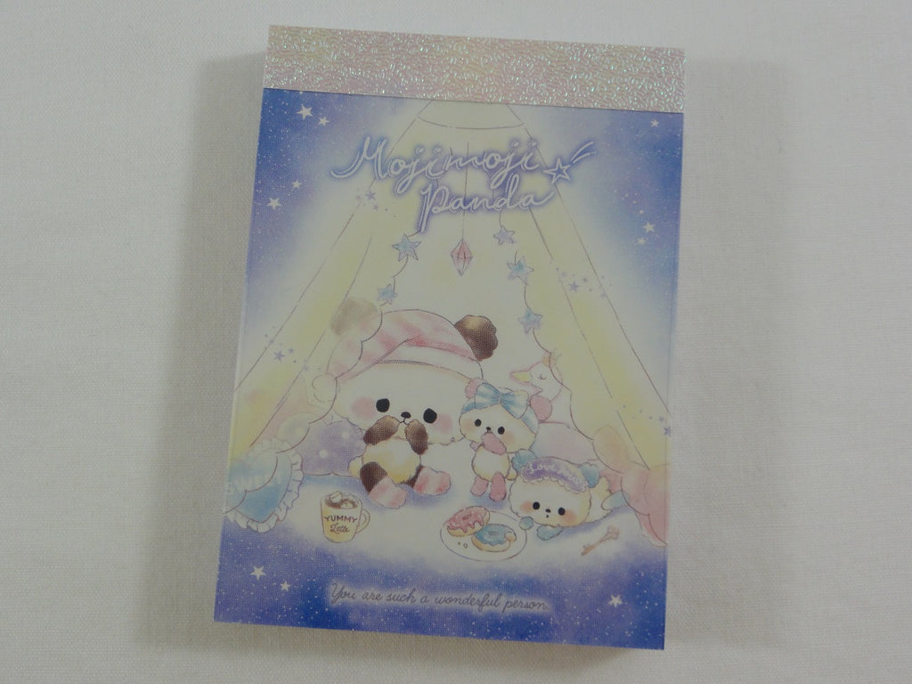 Cute Kawaii Crux Moji Panda Starry Sleep Over Mini Notepad / Memo Pad - Stationery Design Writing Collection