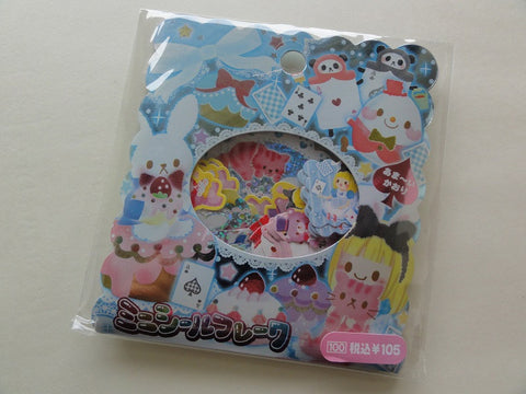 Cute Kawaii Alice Fairy Tale Story Flake Stickers Sack - Vintage