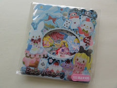 z Cute Kawaii Alice Fairy Tale Story Flake Stickers Sack - Vintage