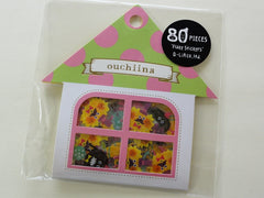 Cute Kawaii Q-Lia Ouchiina Monster Flake Stickers Sack