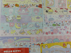 Cute Kawaii Hello Kitty My Melody Little Twin Stars All Characters Paper Memo Note Set Sanrio
