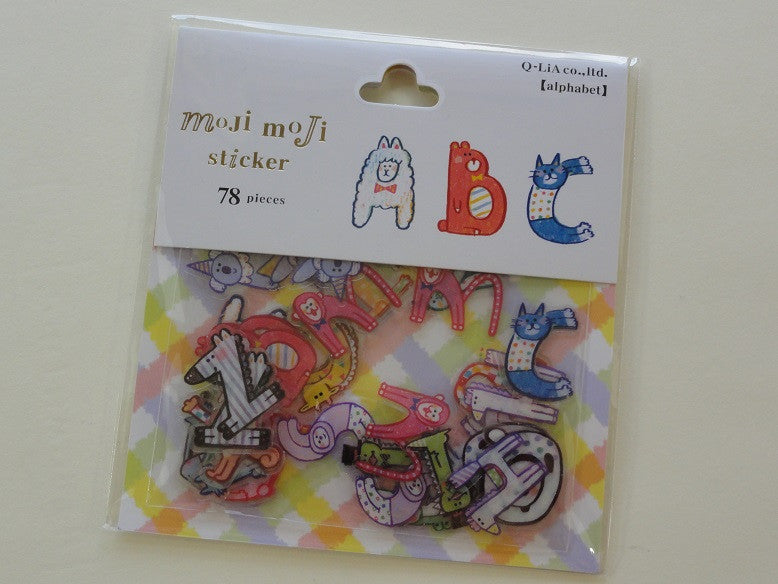 z Cute Kawaii Q-Lia Alphabet Animal Design Sticker Flakes Sack