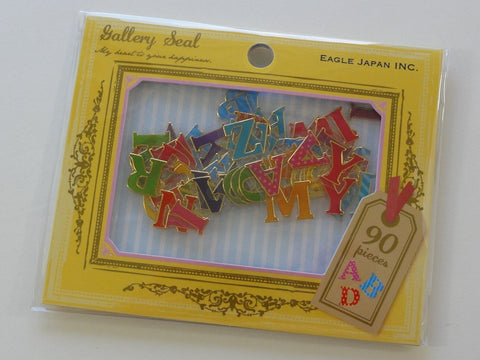 Cute Kawaii Alphabet Flake Stickers Sack