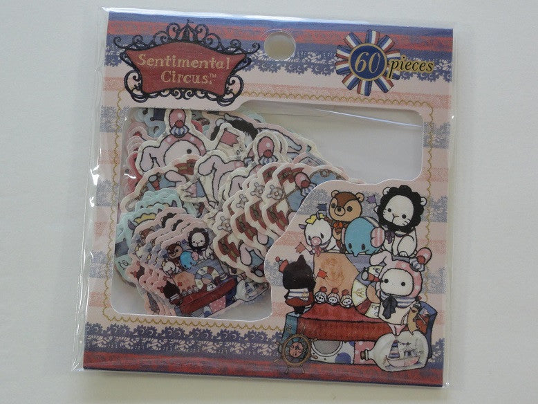 Kawaii Cute San-X Sentimental Circus Flake Sticker Sack - C