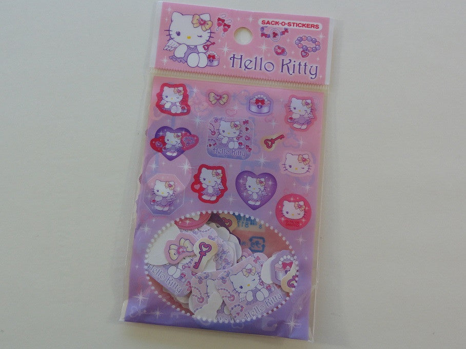 745be6906 Cute Kawaii Sanrio Hello Kitty Angels Sack-O-Stickers Flake Sticker Sack -  Vintage ...
