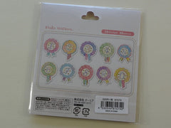 Cute Kawaii Q-Lia Number Ribbon Sticker Flakes Sack