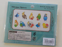 z Cute Kawaii Birds Photo Flake Stickers Sack