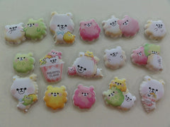 z Cute Kawaii Crux Popcorn Bear Flake Stickers Sack - Butter