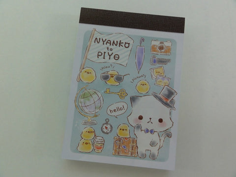 Kawaii Cute Crux Nyanko Cat Piyo Mini Notepad / Memo Pad