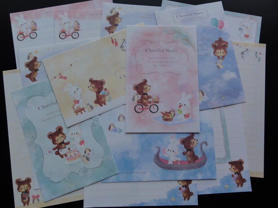 Cute Kawaii Kamio Cheerful Story Letter Sets - B