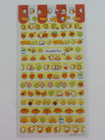 Cute Kawaii Mind Wave Bakery Bread Friends Sticker Sheet - for Journal Planner Craft