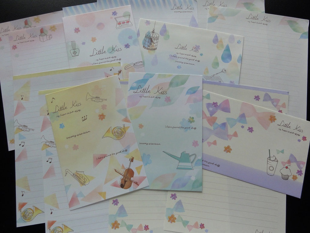 Kawaii Cute Kamio Little Kiss Letter Sets