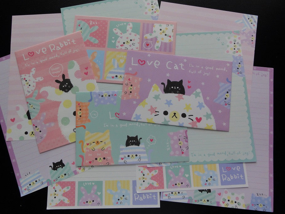 Cute Kawaii Kamio Love Rabbit Cat Letter Sets