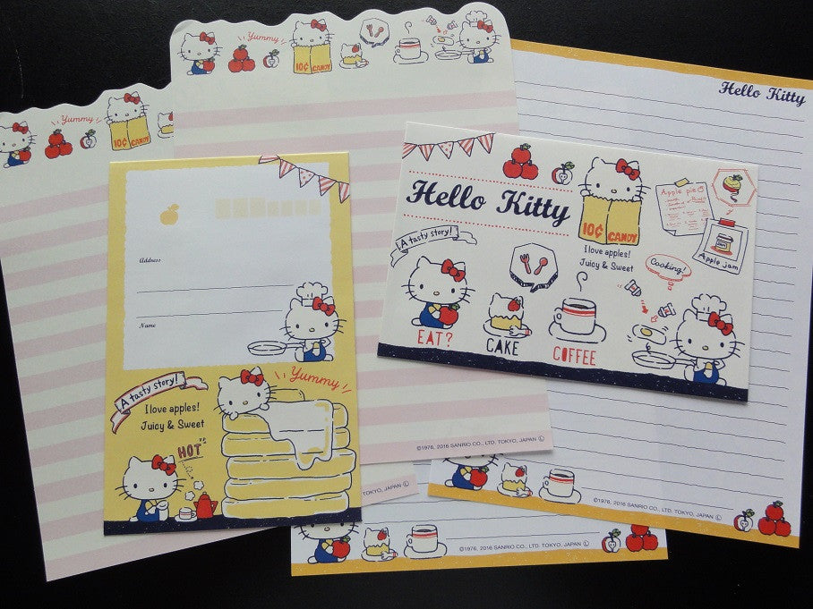Cute Kawaii Sanrio Hello Kitty Cooking Letter Sets