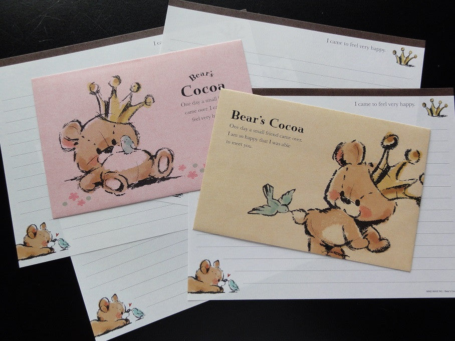 Kawaii Cute Mindwave Bear's Cocoa Letter Sets