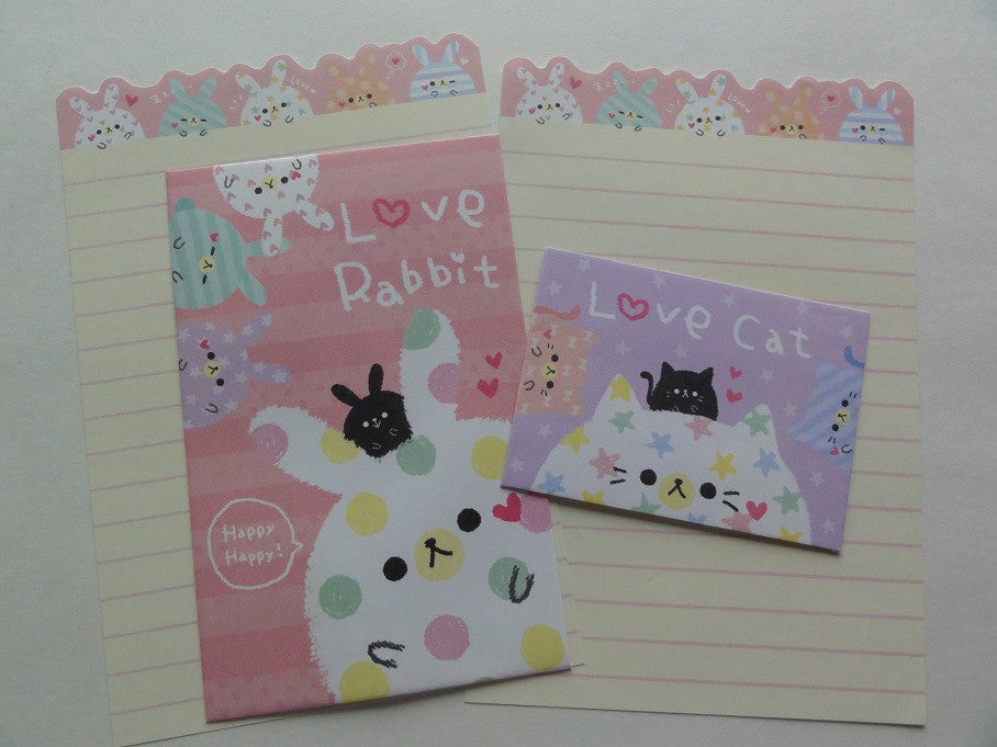 Cute Kawaii Kamio Love Rabbit Cat Mini Letter Sets