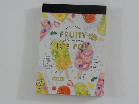 Cute Kawaii Crux Fruity Ice Pop Mini Notepad / Memo Pad - Stationery Design Writing Collection