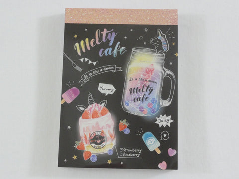 Cute Kawaii Crux Melty Cafe Coffee Drink Mini Notepad / Memo Pad - G - Stationery Designer Paper Collection