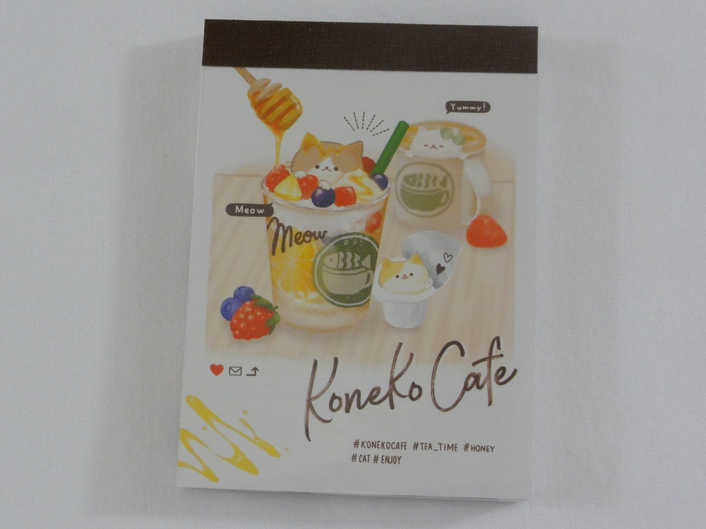 Cute Kawaii Koneko Cafe Cat Love It Mini Notepad / Memo Pad - F - Stationery Design Writing Collection