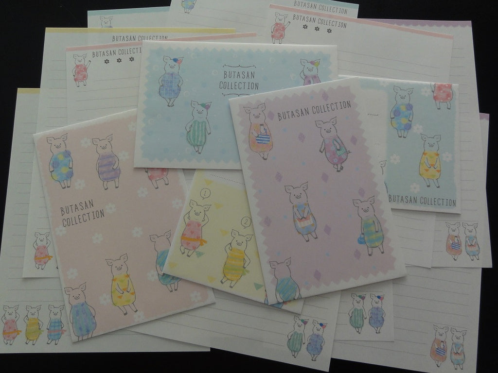 Kawaii Cute Crux Pig Piggy Butasan Collection Letter Sets