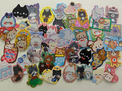 Cat Kitten Kitty theme Flake Stickers - 43 pcs + 1 Large sticker