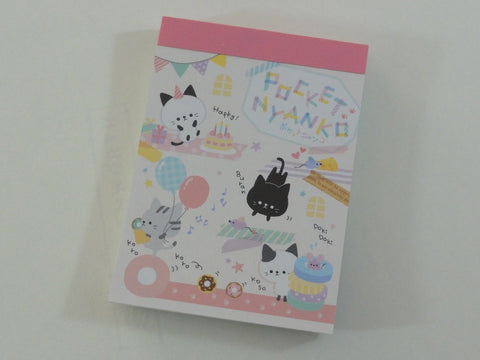 Cute Kawaii Crux Pocket Nyanko Cat Kitten Mini Notepad / Memo Pad