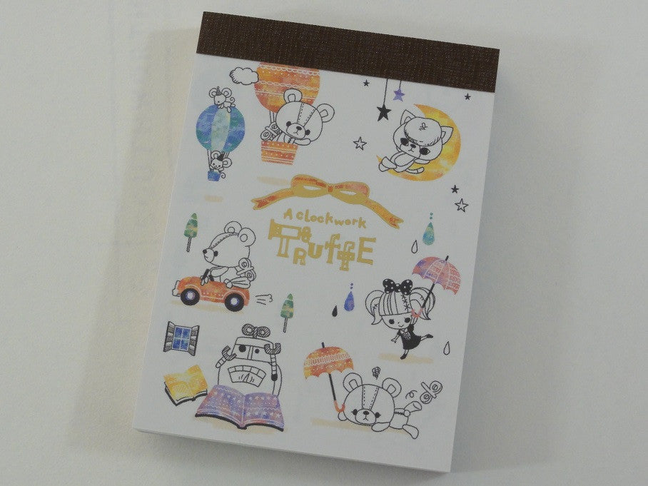 Cute Kawaii Kamio A Clockwork Truffe Bear Mini Notepad / Memo Pad