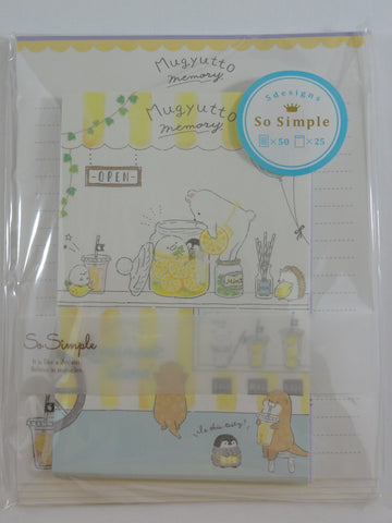 Cute Kawaii Crux Bear Penguin Hedgehog Mugyutto Letter Set Pack - Stationery Writing Paper Penpal Collectible