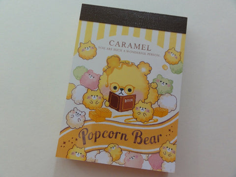 Cute Kawaii Crux Popcorn Bear Caramel Mini Notepad / Memo Pad