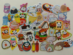 Cute Kawaii Junk Food Marshmallow Soda Rice Ball theme Flake Stickers - 44 pcs