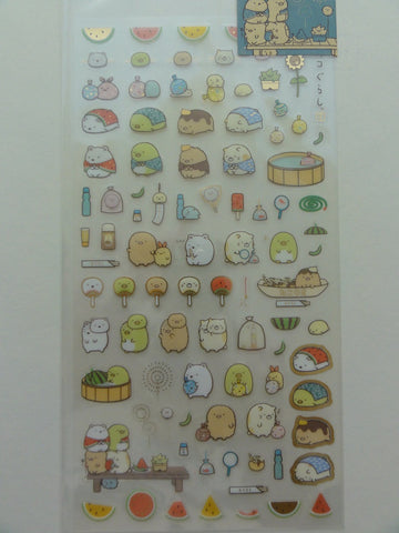 Cute Kawaii San-X Sumikko Gurashi Summer Watermelon Sticker Sheet