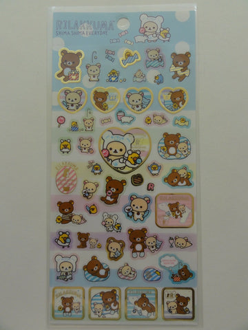 Cute Kawaii San-X Rilakkuma Shima Sticker Sheet