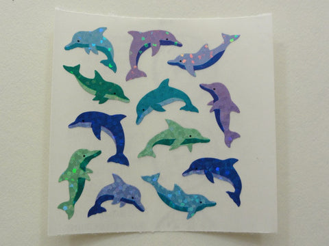 Sandylion Dolphin Glitter Sticker Sheet / Module - Vintage & Collectible